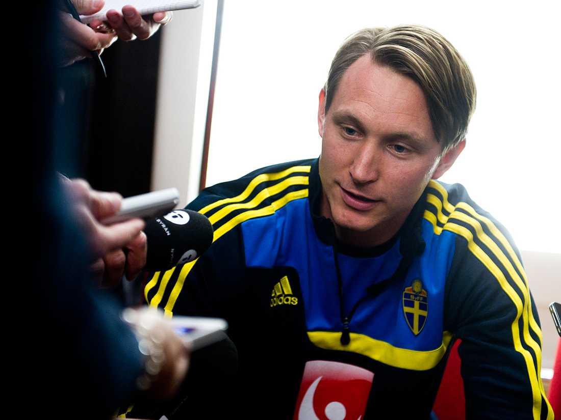 Mellan 2007-2008 var ryktena ivriga kring Källström. Spanska Valencia uppgavs vara nära att skriva kontrakt med Källström. Foto: Pontus Orre.