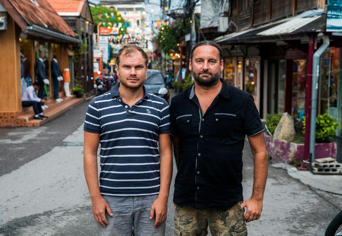 Aftonbladets reporter Petter J Larsson och fotograf Stefan Jerrevång på plats i Thailand.