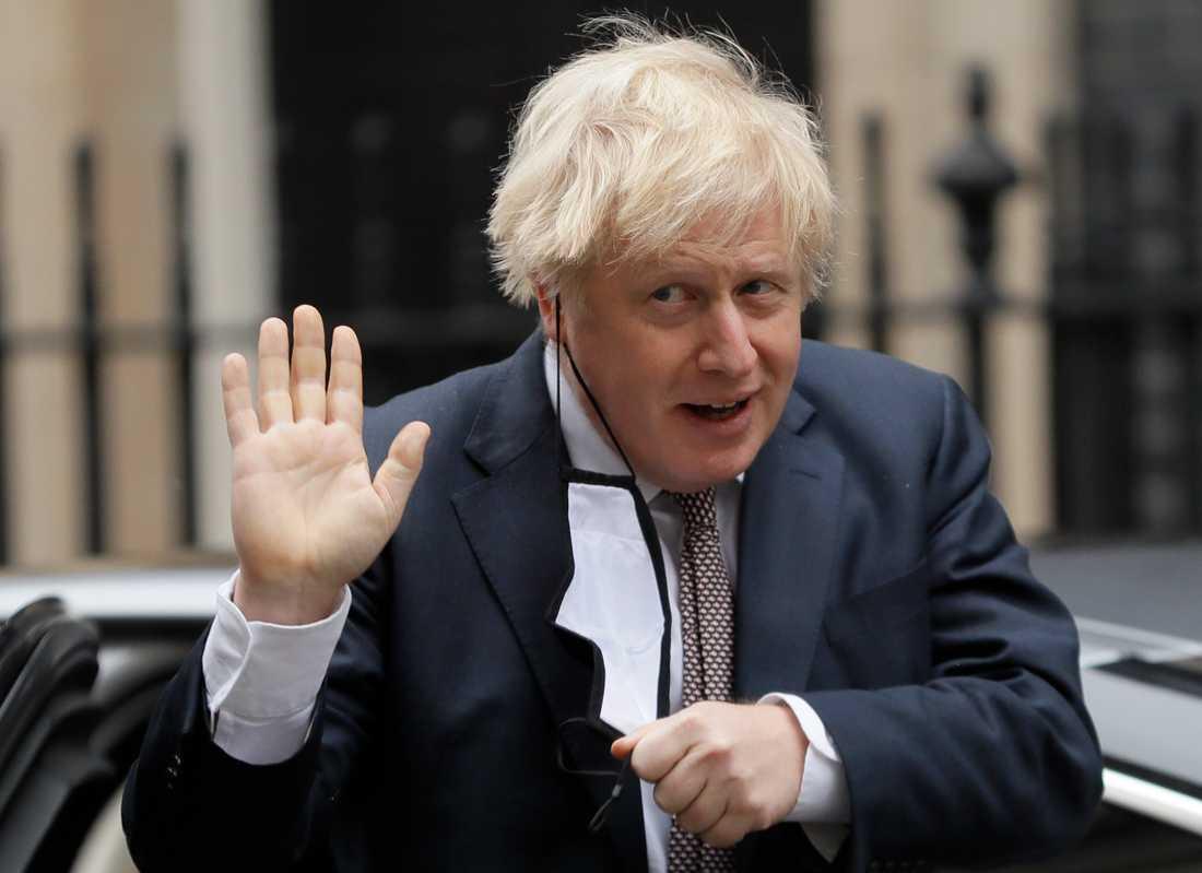 Storbritanniens premiärminister Boris Johnson ser en horisont för Englands hårda virusregler i början av februari.