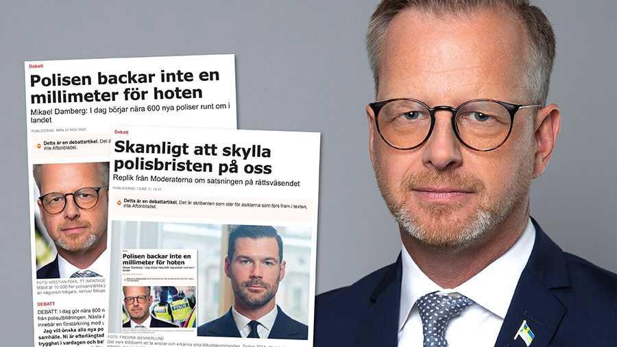 """Johan Forssell skriver i sin replik att """"antalet poliser som väljer att lämna yrket i förtid ökat kraftigt."""". Detta stämmer inte. Antalet poliser som väljer att lämna yrket i förtid minskat fyra år i rad, skriver Mikael Damberg."""