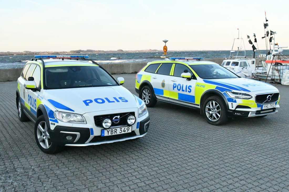 Polisen på plats i Abbekås.