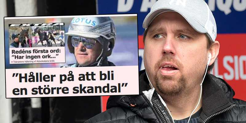 Daniel Redéns första ord i media efter att superhästen Propulsion bekräftats nervsnittad.