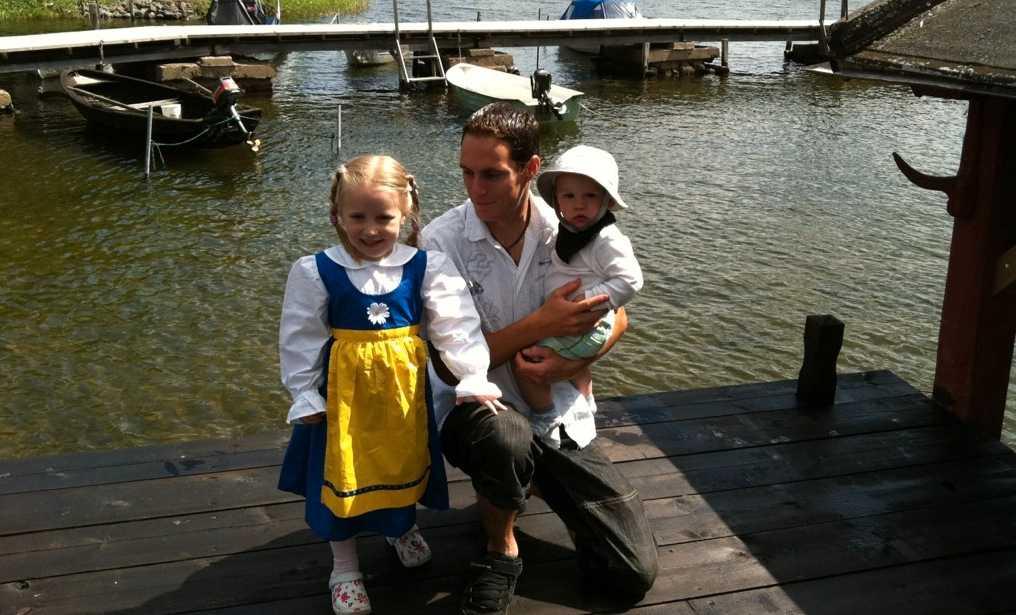Firade med familjen i Gamla Grisslehamn i Roslagen! En mycket trevlig dag, skriver den här läsaren.