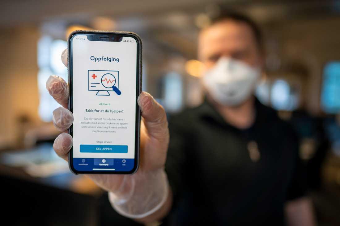 Norska Folkehelseinstituttets app Smittestopp ska användas för smittspårning och för att varna för om en användare varit i närheten av någon som har smittats av coronaviruset.