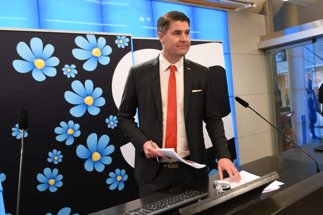 Sverigedemokraternas ekonomiskpolitiske talesperson Oscar Sjöstedt (SD).
