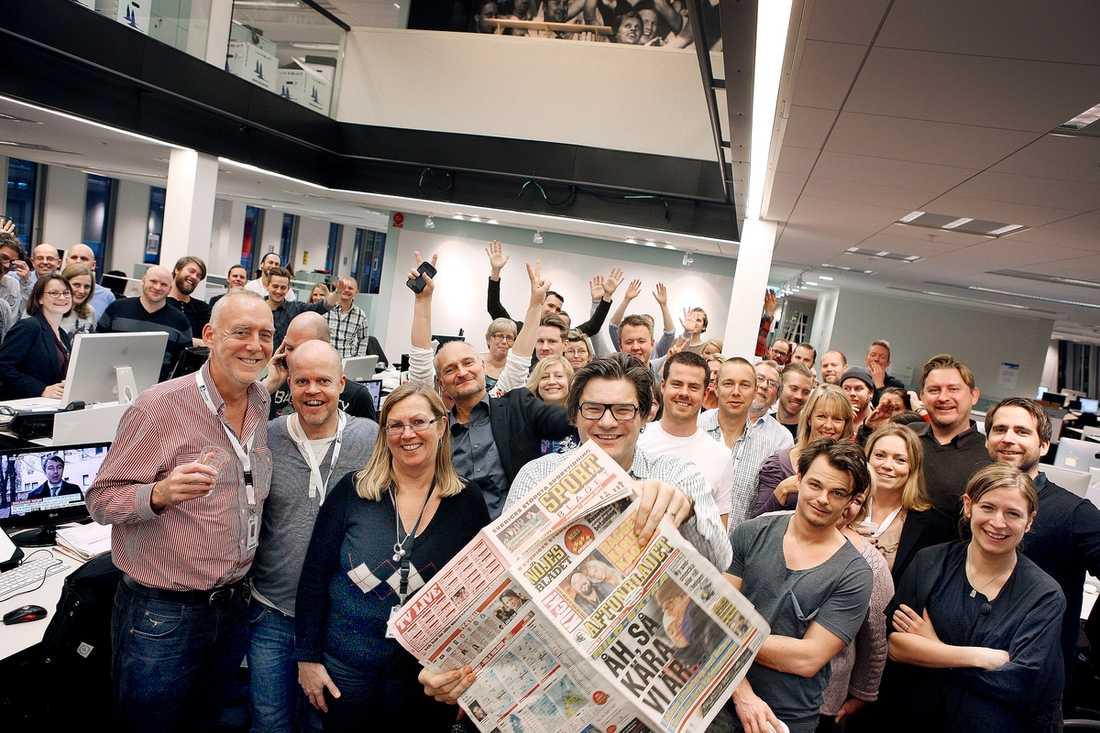 """""""Har kommit längst"""" """"Aftonbladet är hur man än mäter Sveriges största dagstidning och också den tidning som kommit längst i den strukturomvandling som nu griper genom samtliga svenska dagstidningar"""", säger Aftonbladets chefredaktör Jan Helin."""
