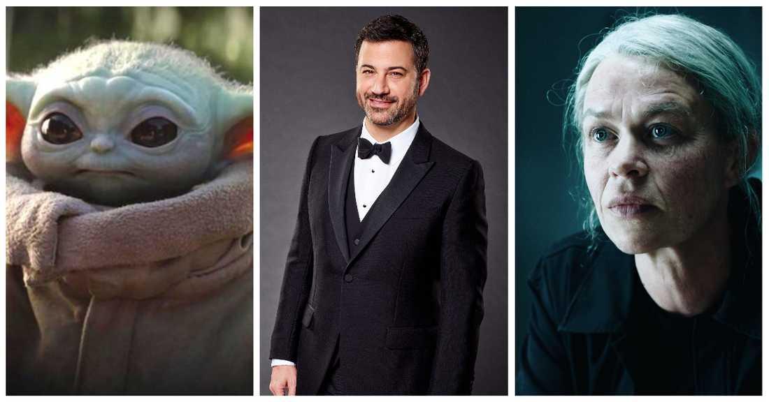 """""""The mandalorian"""", Jimmy Kimmel och """"Livstid""""."""