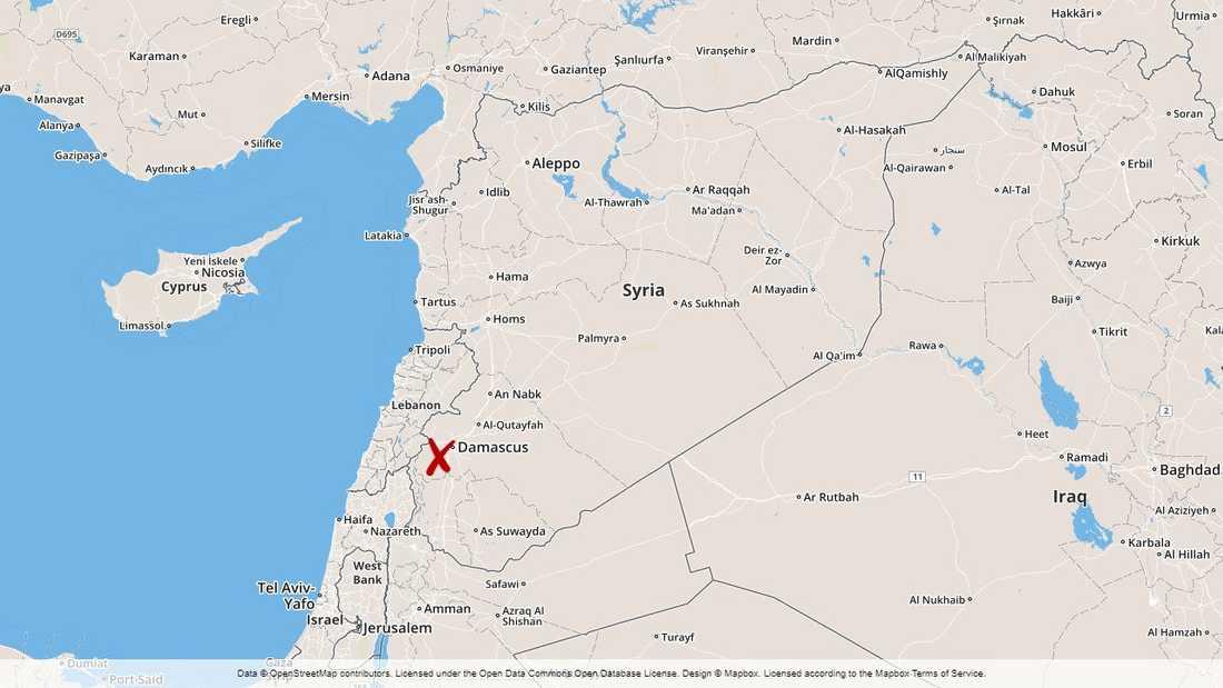 Robotar har skjutits ner i närheten av Damaskus.
