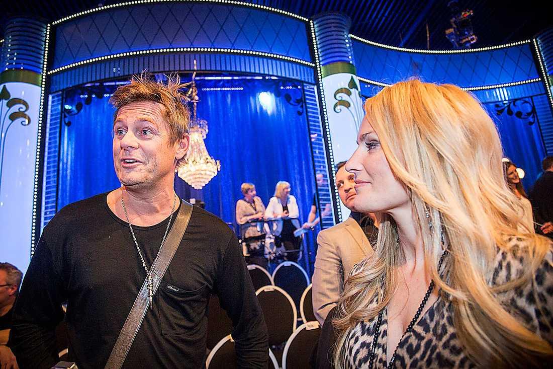 """Niclas Wahlgren och Laila Bagge träffades när de båda var med och tävlade i """"Let's dance"""" 2009. Förra hösten skilde de sig."""