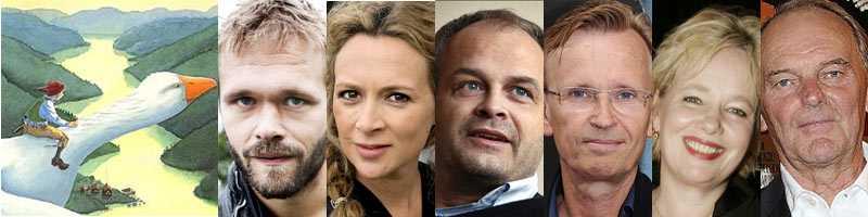 Joakim Nätterqvist, Mirja Turestedt, Johan Rheborg, Johan Ulveson, Cecilia Ljung och Björn Granath gör alla roller i den nya tv-serien om Nils Holgersson.