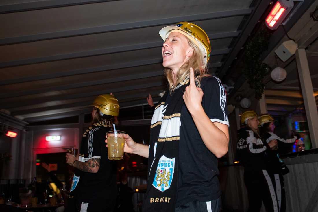 Rebecka Blomqvist på guldfesten.