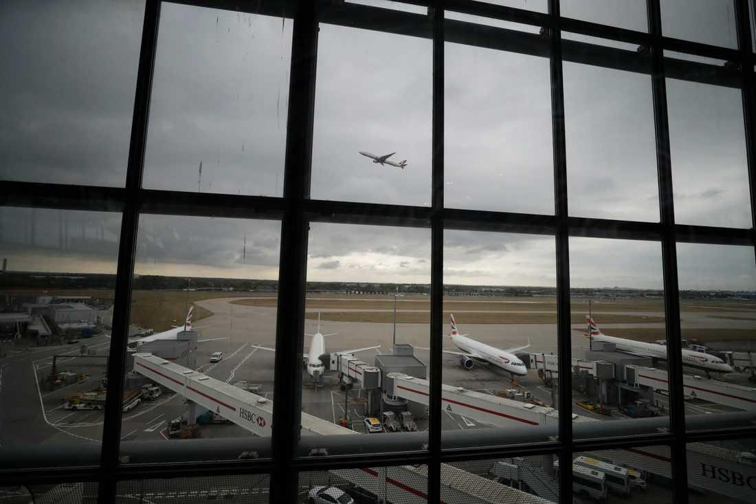 Drönaraktioner för att stoppa flygtrafiken på Heathrow misslyckades. Arkivbild.