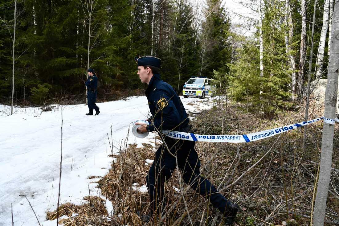 Skelettdelar påträffades i en skog i Västerås