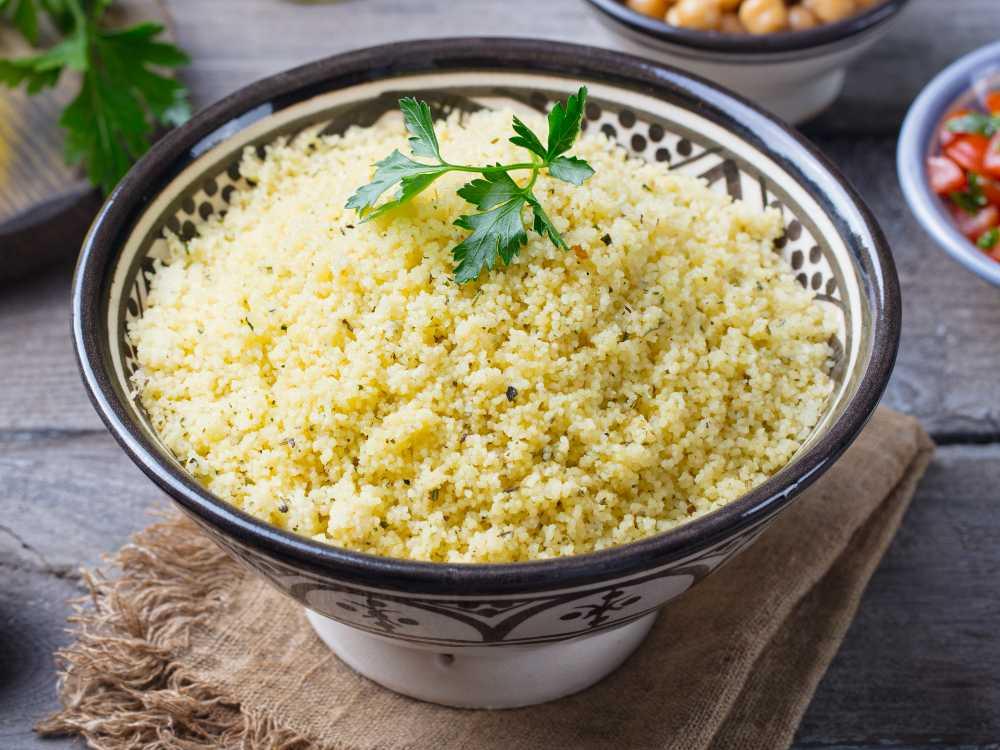 Couscous ska vara luftig och lätt.