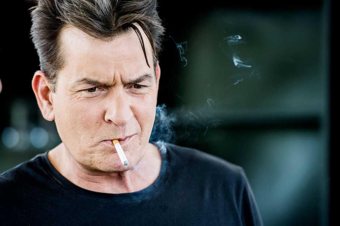 Charlie Sheen i Stockholm.