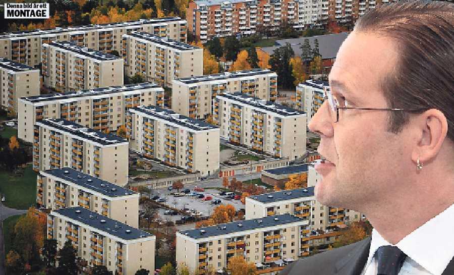kostar miljarder 650 000 lägenheter i miljonprogrammen runt om i Sverige är i akut behov av renovering. Finansminister Anders Borg måste ta sitt ansvar och öppna upp statens plånbok för att lösa problemet. OBS! Bilden är ett montage.