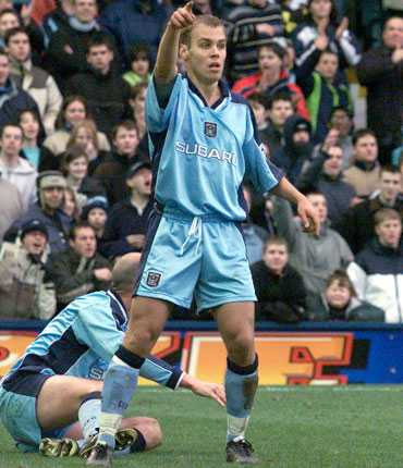 Tomas Gustafsson, senare Antonelius, i Coventry 2000.