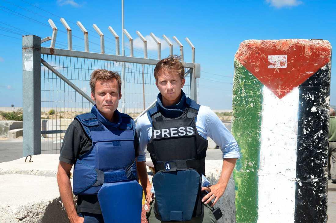 Aftonbladets Jerker Ivarsson och Erik Wiman på plats i Gaza.