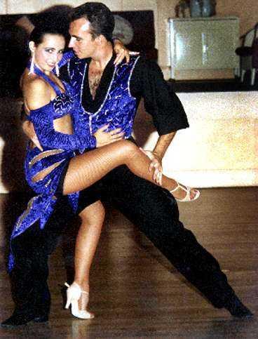 Kerstin och Mark Parkin dansade tillsammans innan hjärnskadan satte stopp för hennes karriär.