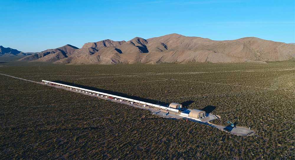 Hyperloop Ones testbana i Nevadaöknen.