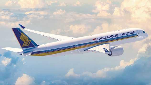 Resan till Bali skulle gå med Singapore airlines.