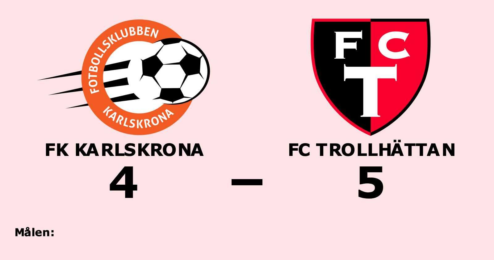 Uddamålsseger för FC Trollhättan mot FK Karlskrona