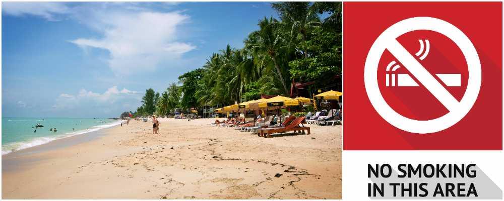 Slutrökt på 20 populära stränder i Thailand.