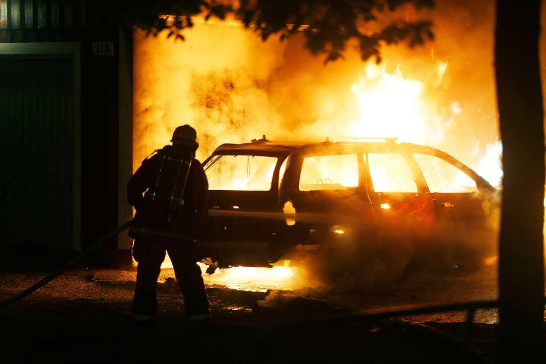 Bilbrand i Rinkeby.