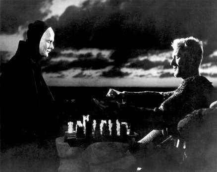 det sjunde inseglet Max von Sydows riddare spelar schack med döden (1957).