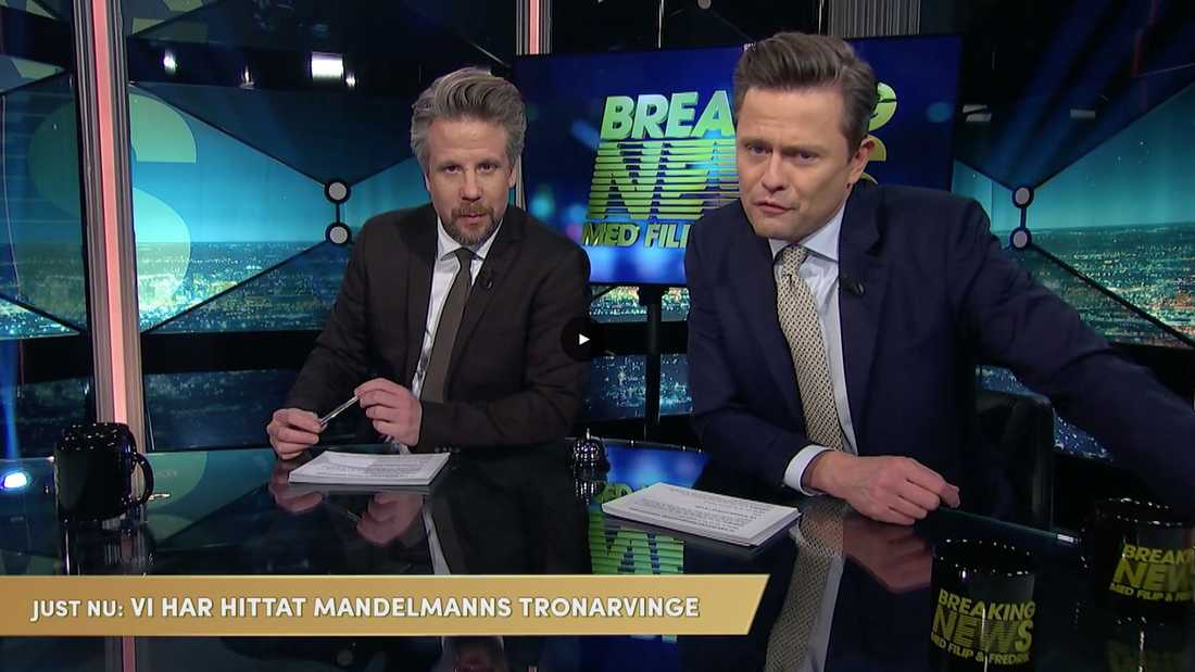 "Filip & Fredrik i ""Breaking news""."