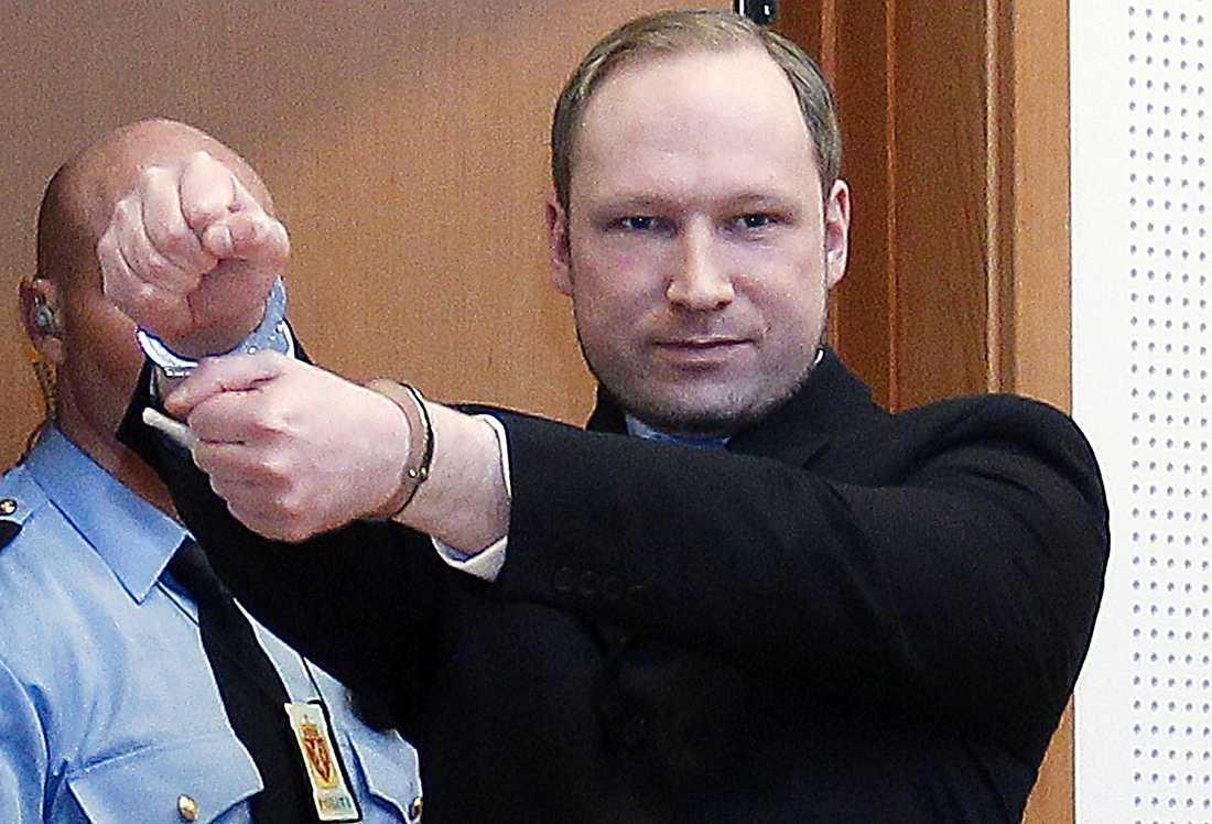 Anders Behring Breiviks handrörelse när han senast framträdde i rättssalen var en högextrem hälsning, enligt hans försvarsadvokat.