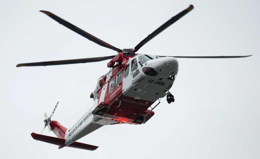 Sjöfartsverkets räddningshelikopter. Arkivbild.