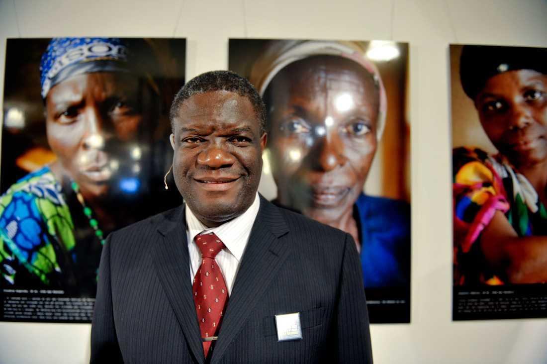 Den kongolesiske läkaren och fredspristagaren Denis Mukwege.