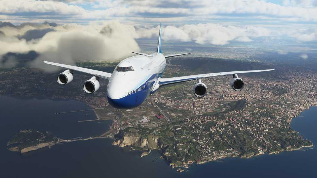 """I standardversionen av """"Microsoft flight simulator"""" finns 20 flygplan, däribland Boeings 747. Pressbild."""