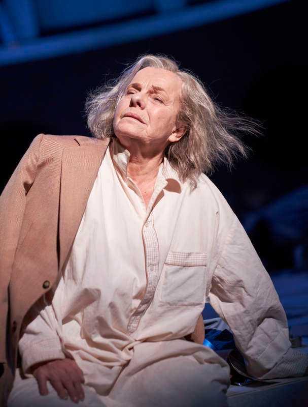 "Marie Göranzon i ""Kung Lear""."