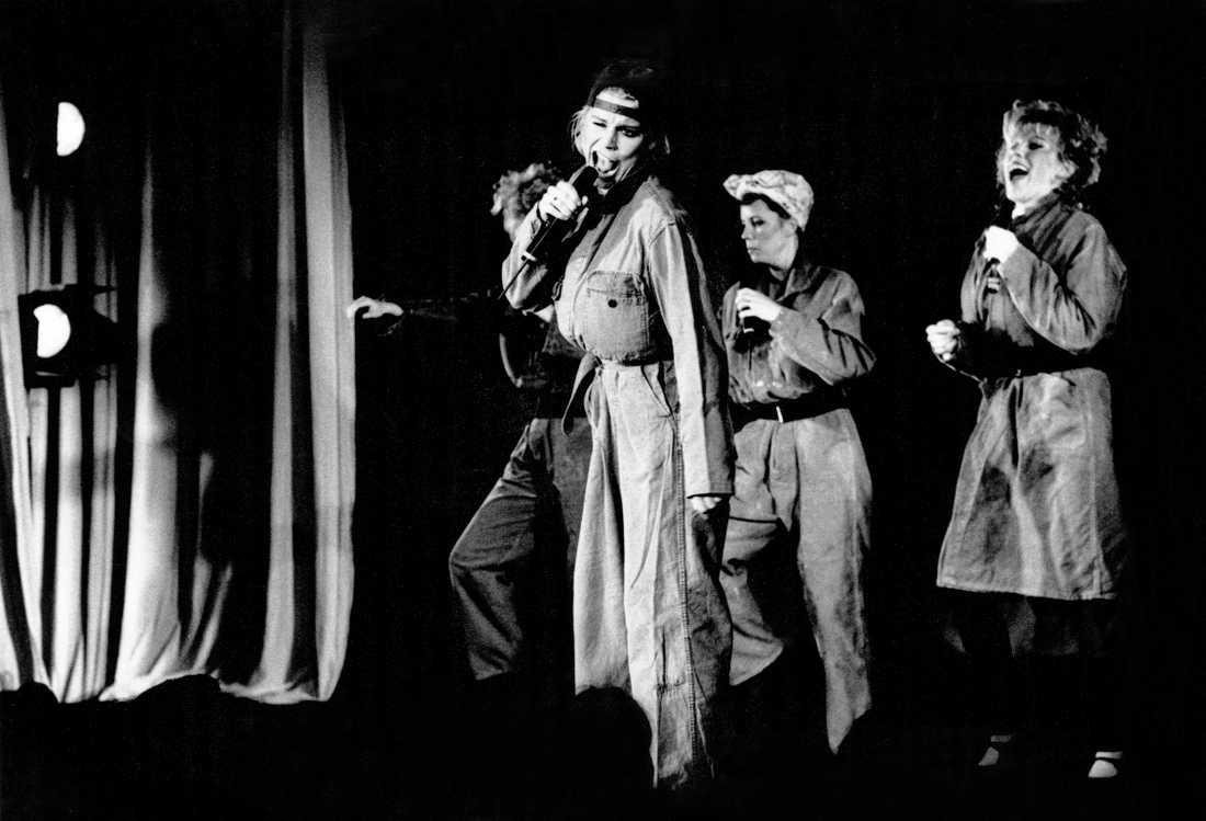 Ainbusk singers. Josefin Nilsson, Birgitta Jakobsson och Marie Nilsson 1989.
