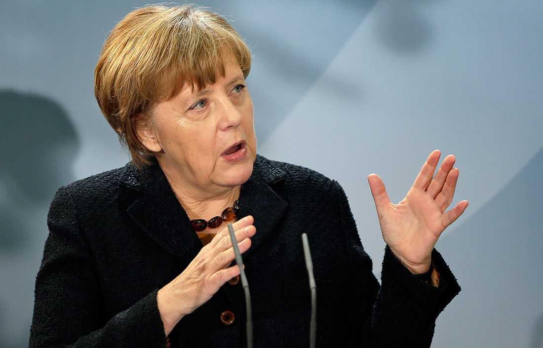 """""""Vi vill kraftigt minska antalet människor som kommer hit"""", säger Angela Merkel."""