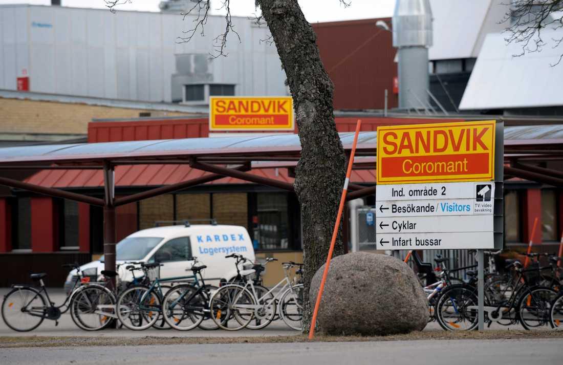 Två personer har hittats avlidna i en tank på Sandviks anläggning i Gimo. Arkivbild.