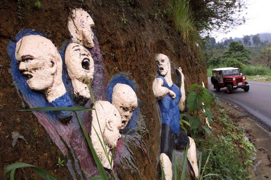 En minnesplats i Colombia för de barn som föll offer för Luis Alfredo Garavito. Arkivbild.
