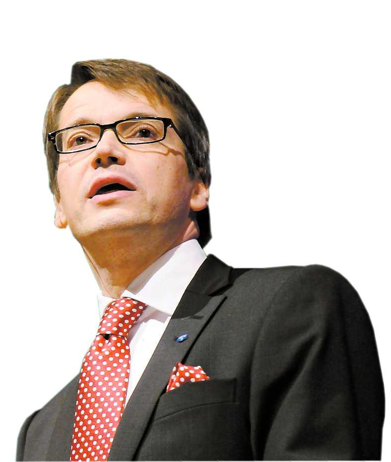 Göran Hägglund, partiledare.