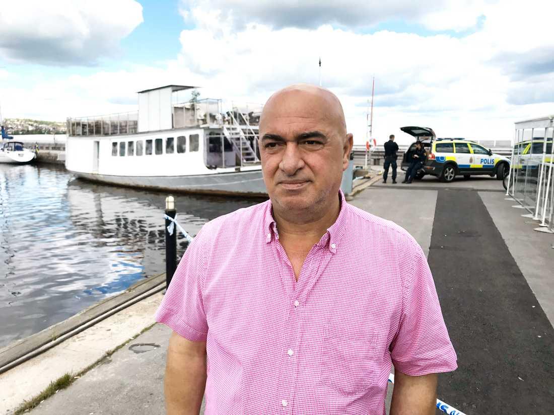 Kerim Azizsson upptäckte kroppen och larmade polisen