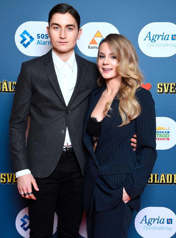 Svenska Hjältar-juryns Molly Nutley tillsammans med pojkvännen Gustav Lindh.