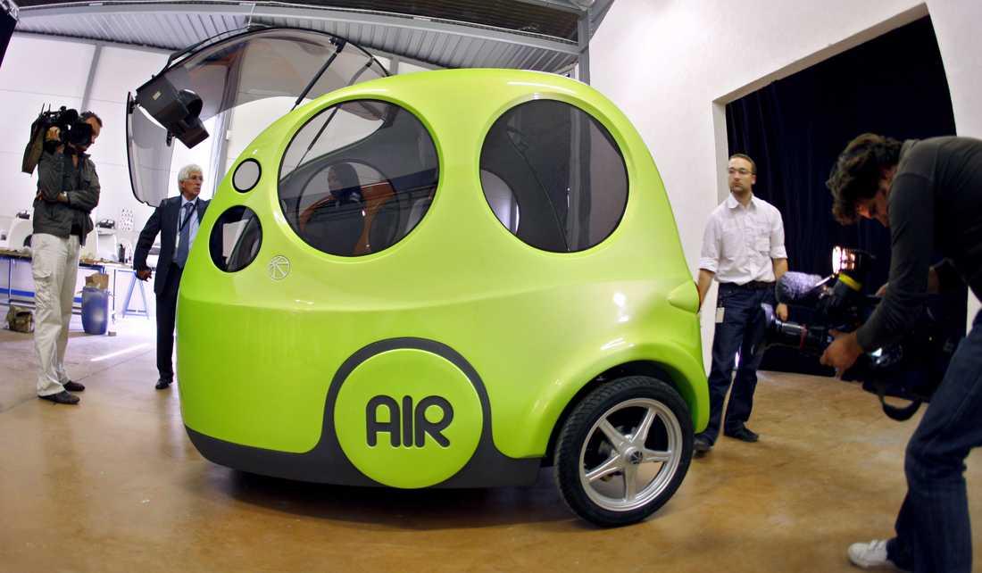 AirPod One går 20 mil på en tank luft.