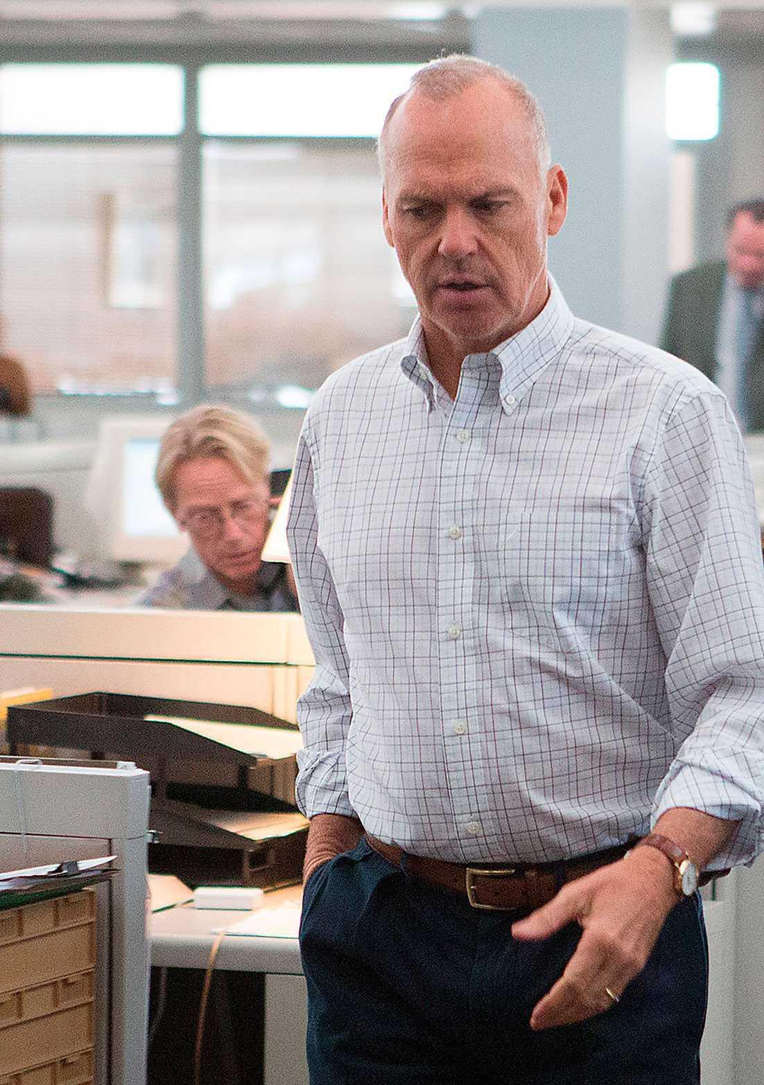 """kopian  ... och Michael Keaton spelar honom i """"Spotlight""""."""