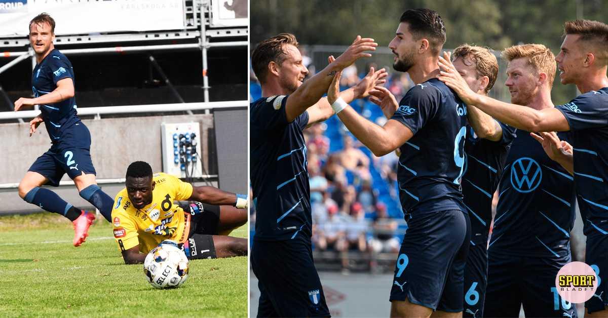 Malmö krossade Degerfors och vann med 5–0