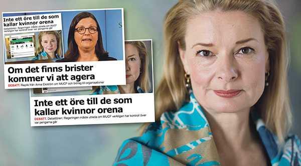 Lotta Edholm (L) svarar Anna Ekström (S).