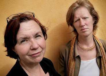 LÖGNER OCH HOT Bam Björling och Carolina Wennerholm, Stiftelsen Kvinnoforum, berättar om hur Gunilla Ekberg utövar sin makt. Den som inte lyder riskerar lögner, hot och att få anslag indragna, säger de.