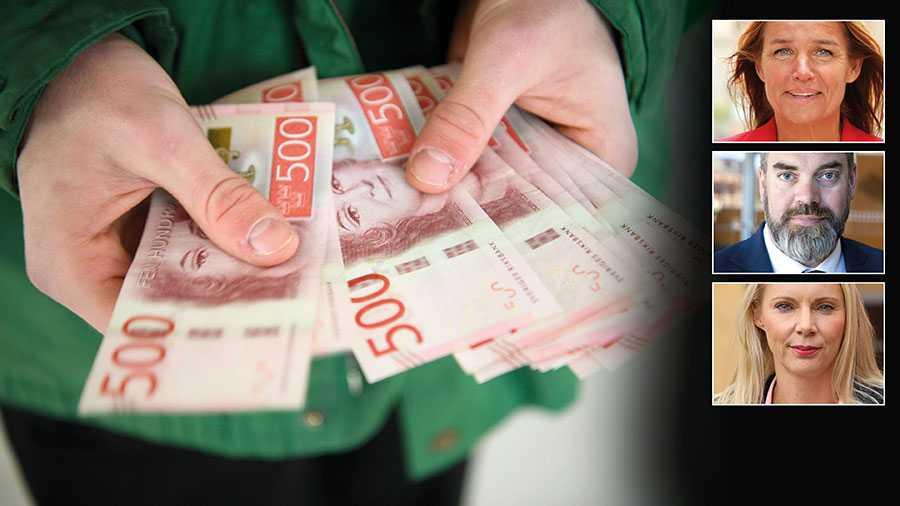 Moderaternas förslag för coronastödet till företag riskerar att bli ren skedmatning av den organiserad brottslighet med skattepengar, skriver Anna-Caren Sätherberg, Fredrik Lundh Sammeli och Åsa Westlund.