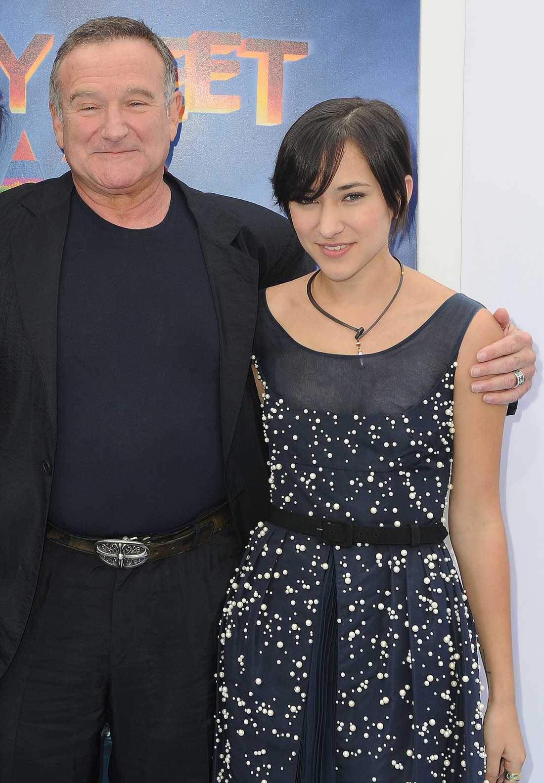 Robin Williams och dottern Zelda.