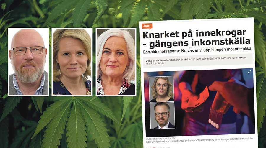 Narkotikaproblemen är inte isolerade till en grupp eller en samhällsklass – problemen finns i hela Sverige, skriver Michael Anefur, Pia Steensland och Acko Ankarberg Johansson.